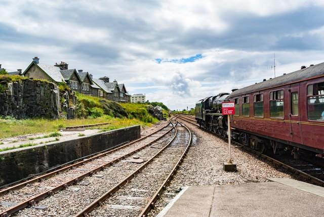 スコットランドマレイグ駅の写真