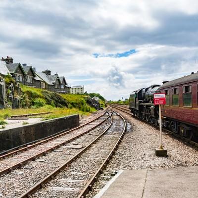 「スコットランドマレイグ駅」の写真素材