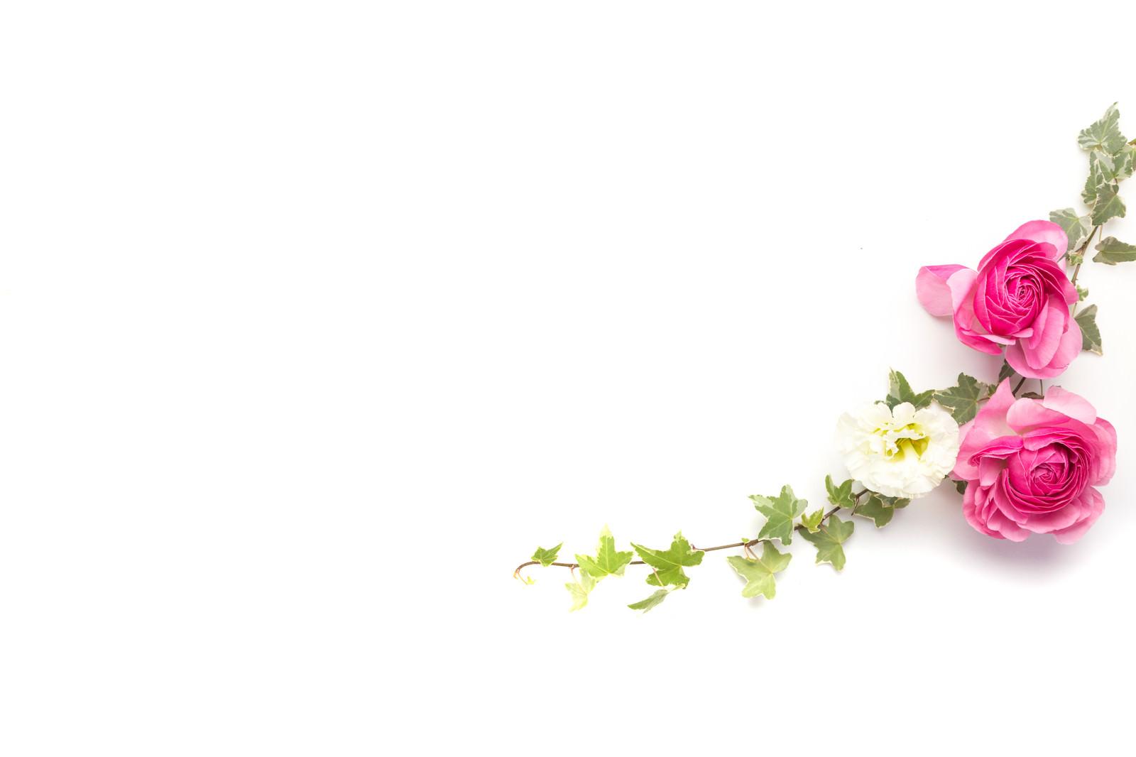 「ツタと薔薇の装花」の写真