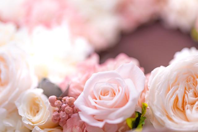 花で作った贈り物の写真