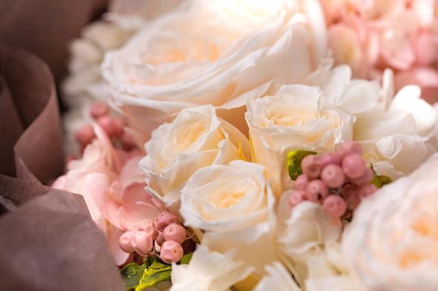 愛情たっぷりの花束の写真