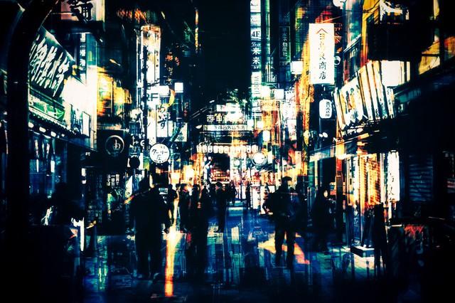 神田の夜の写真