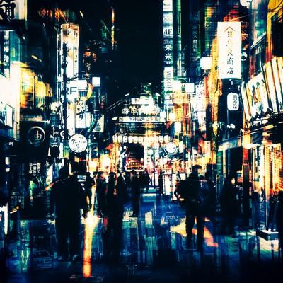 「神田の夜」の写真素材