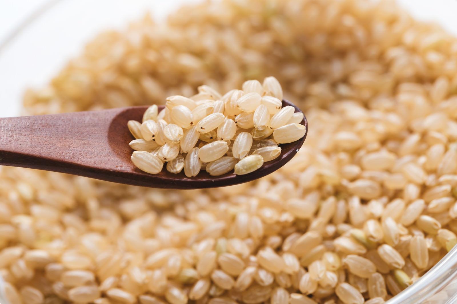 「スプーン一杯分の玄米」の写真