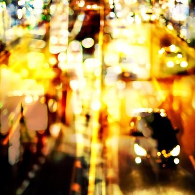 「光りの道路(フォトモンタージュ)」の写真素材