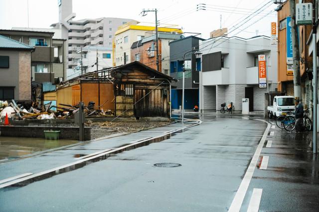 他人が勝手に建物を破壊する事件が発生したGIGAZINE第一倉庫(大阪市西淀川区大和田4丁目12-10)の様子の写真