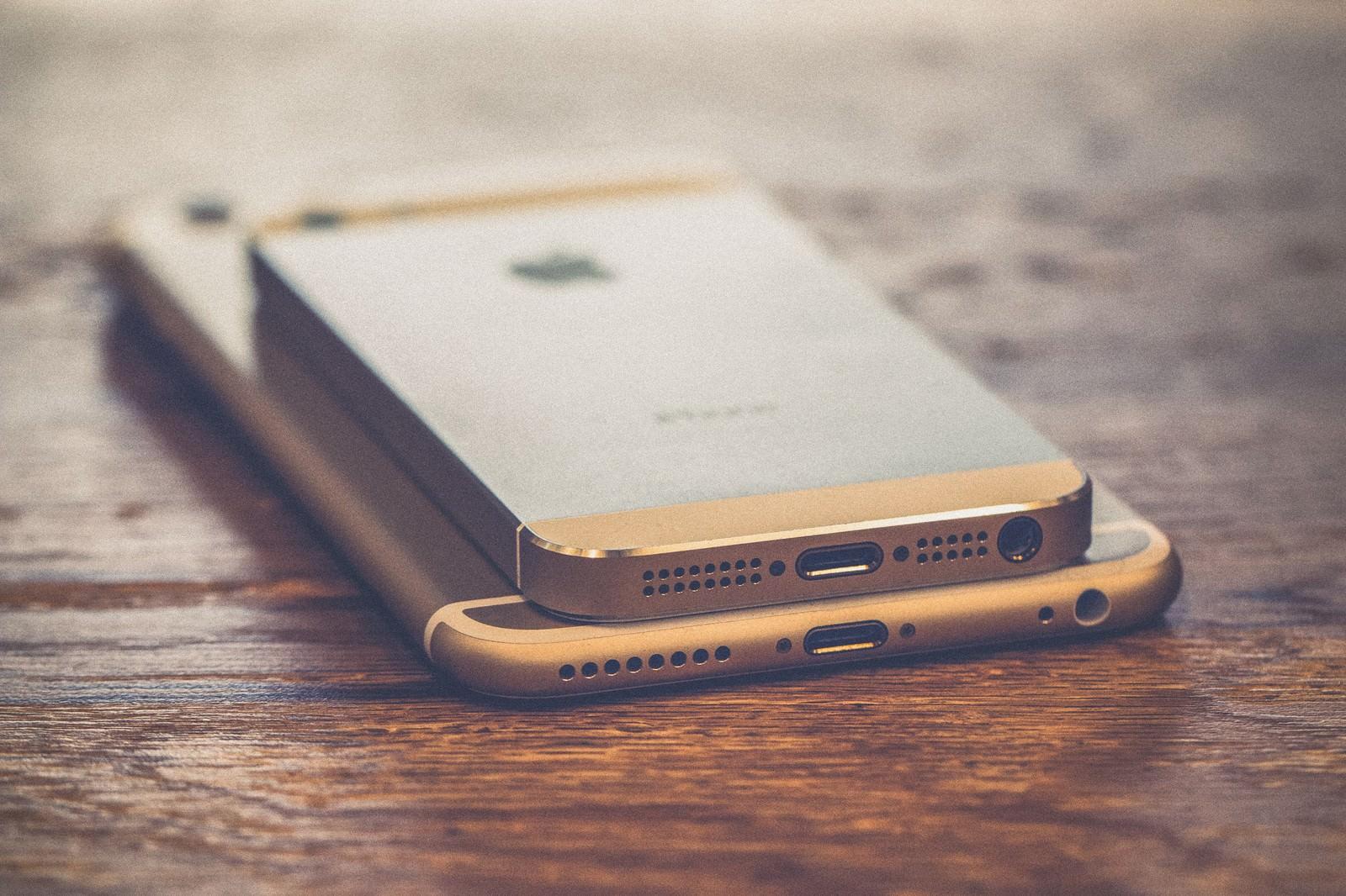 「スマートフォンのドックコネクタ」の写真