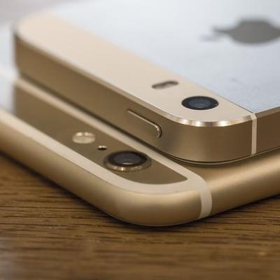 「スマートフォンのカメラ部分」の写真素材