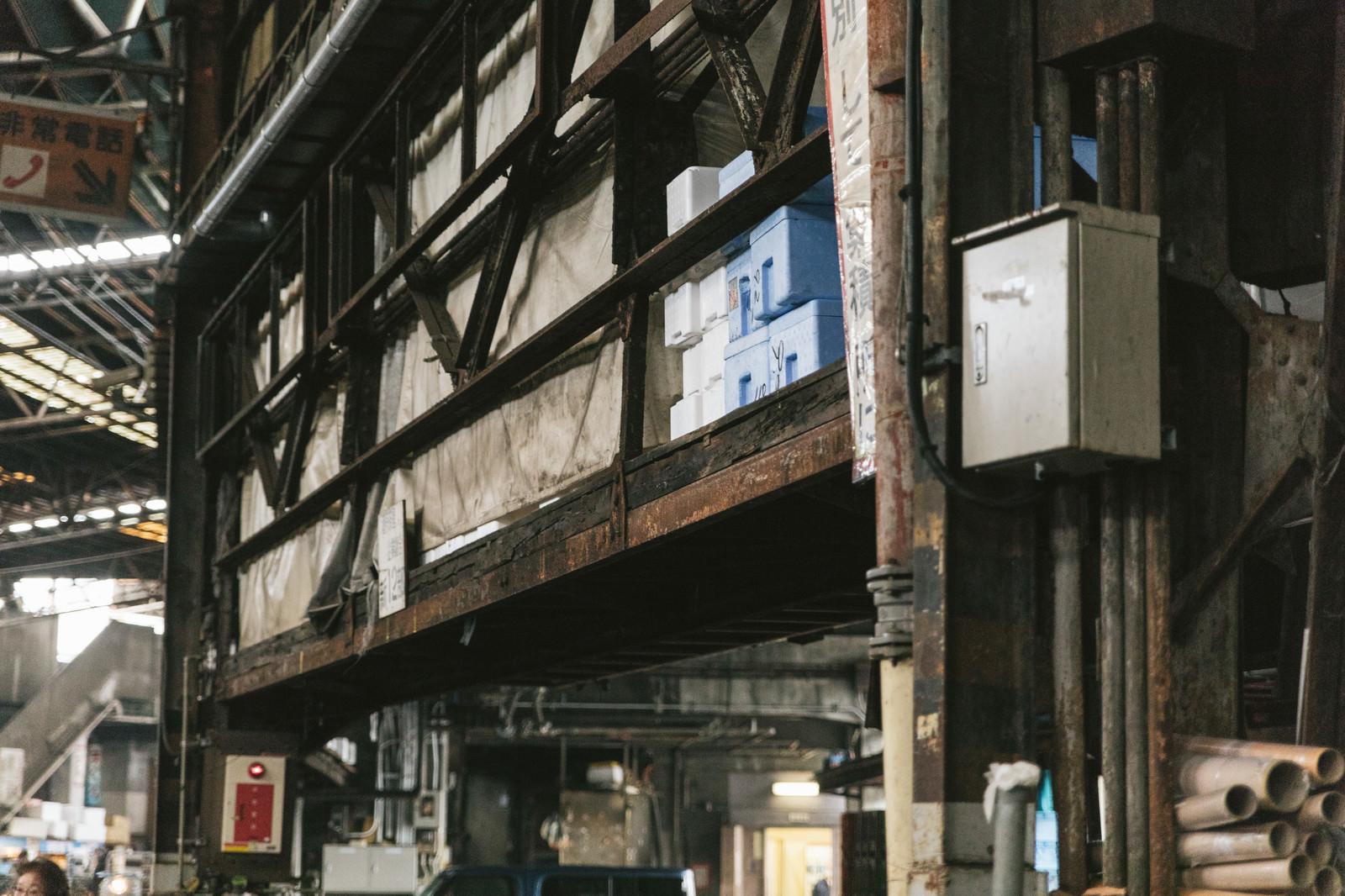 「老朽化する築地市場」の写真