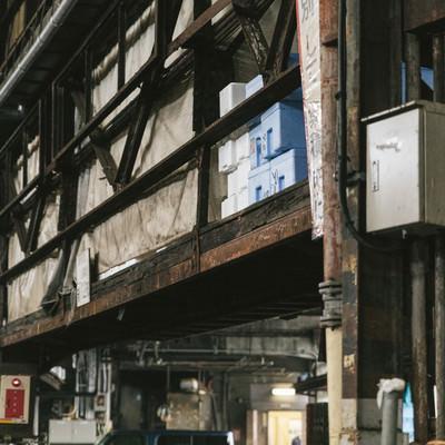 老朽化する築地市場の写真