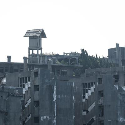 66号棟啓明寮跡の廃墟感(軍艦島)の写真