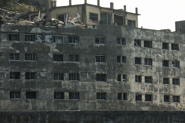 31号棟の廃墟感(軍艦島)の写真