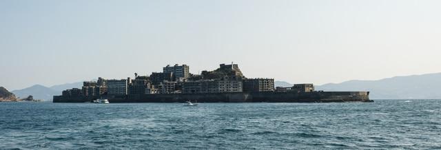 軍艦島(端島)の全景(超高解像度)の写真