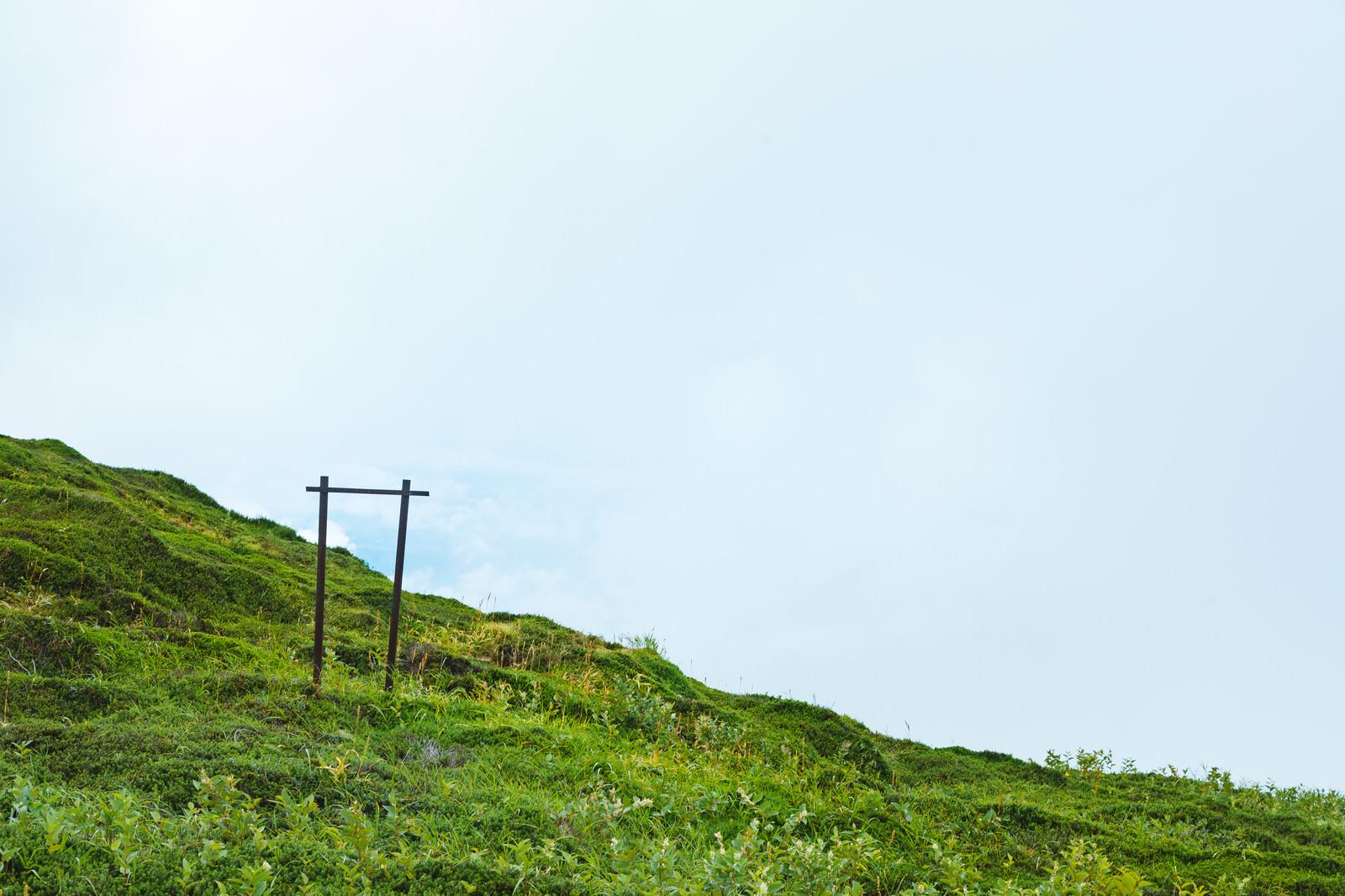 「斜面に残った何かの柵 | 写真の無料素材・フリー素材 - ぱくたそ」の写真