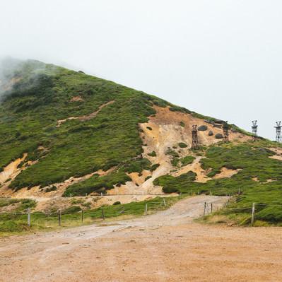 「小串鉱山ふもとの鉄塔跡」の写真素材