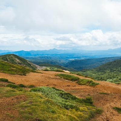 「毛無峠山頂から見える景観」の写真素材