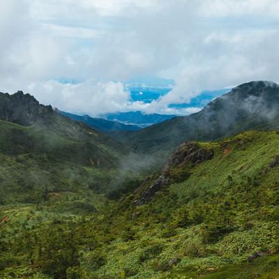 「毛無峠から見える景観」の写真素材