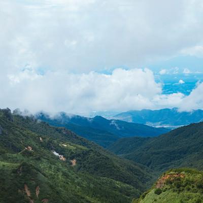 「夏の毛無峠からの景観」の写真素材