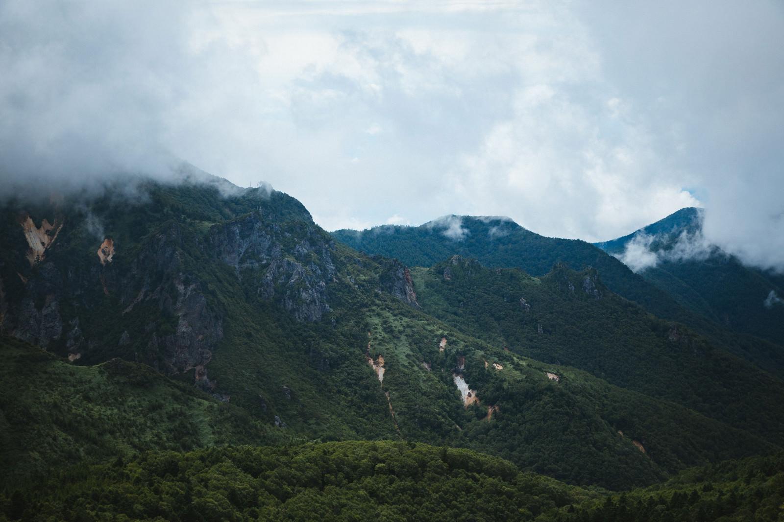 「破風岳に連なる山(毛無峠から撮影)」の写真