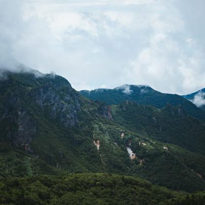 「破風岳に連なる山(毛無峠から撮影)」の写真素材