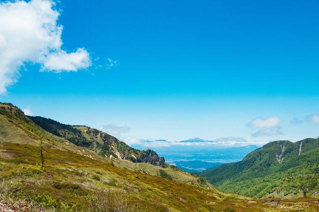 群馬県にある毛無峠から見える景観の写真