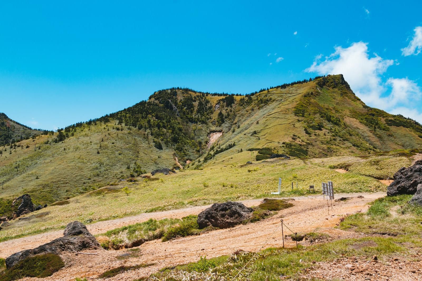 「毛無峠から破風岳のルート」の写真
