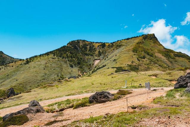 毛無峠から破風岳のルートの写真