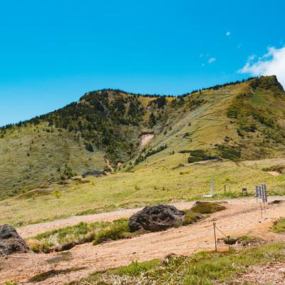 「毛無峠から破風岳のルート」の写真素材