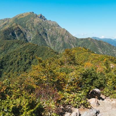 「谷川岳景観」の写真素材