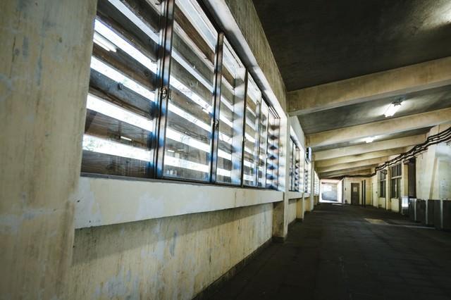 モグラ駅(土合駅)の通路の写真