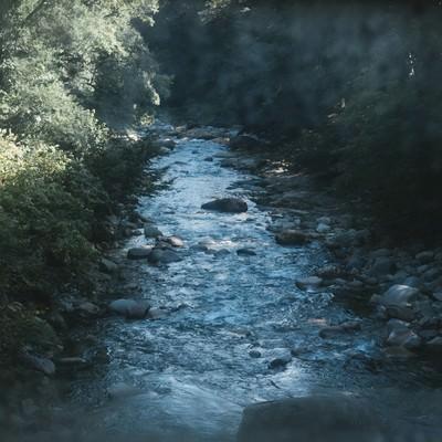 「土合駅通路から見える湯檜曽川」の写真素材