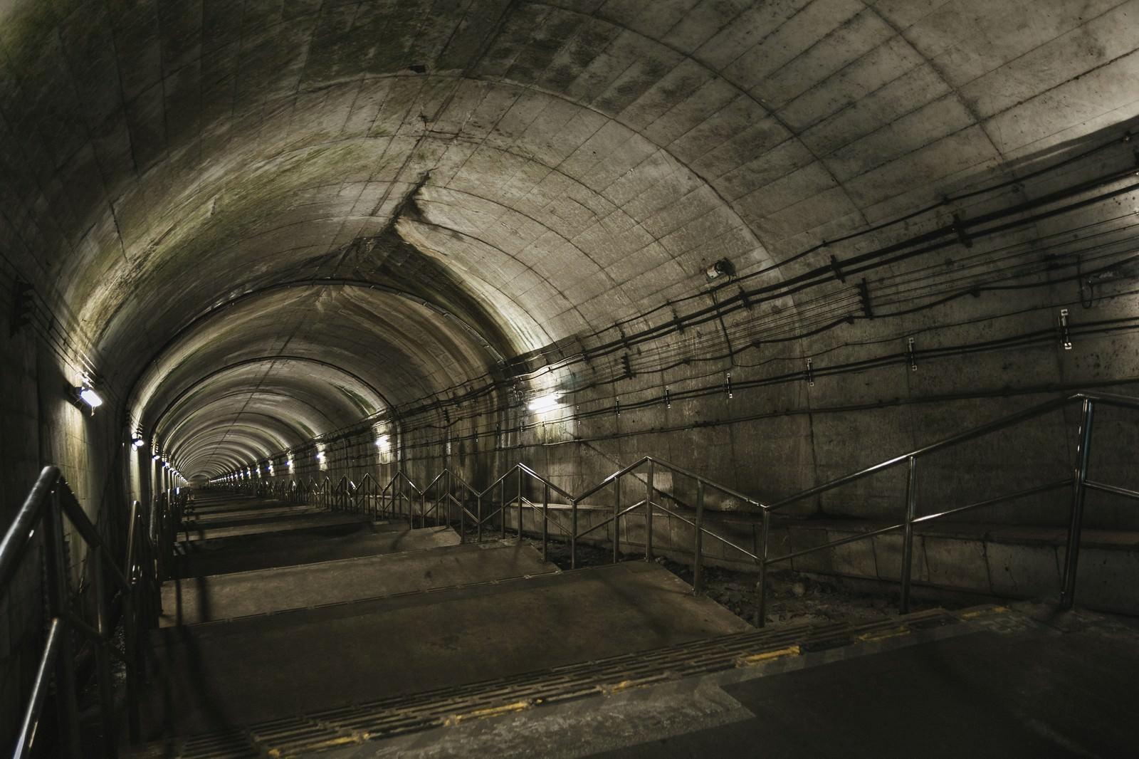 「ダンジョン感ある土合駅の下り階段(462段)」の写真