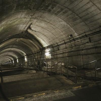 「ダンジョン感ある土合駅の下り階段(462段)」の写真素材