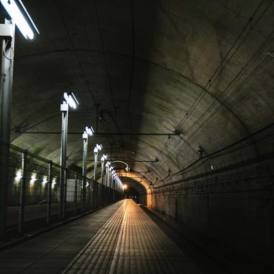 「脱出前にボス戦が起こりそうな土合駅地下ホーム」の写真素材