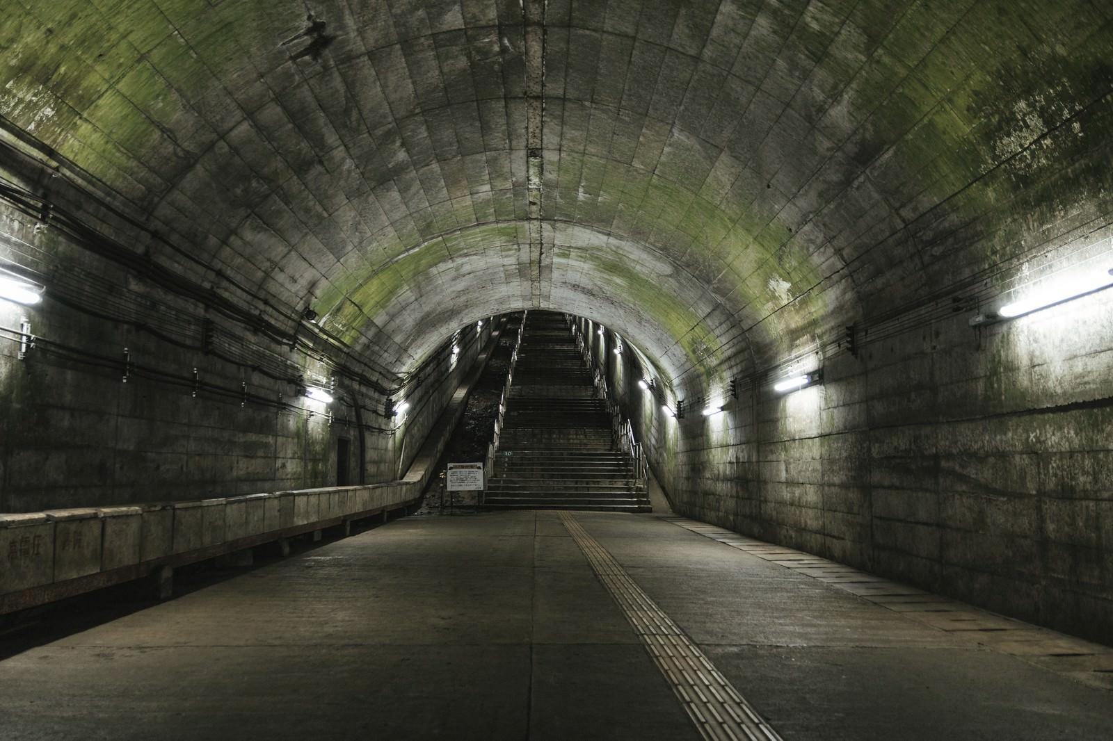 「階段をあがったらボスいそうな場所(土合駅)」の写真
