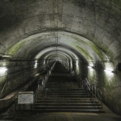 土合駅(どあいえき)の地下階段の写真