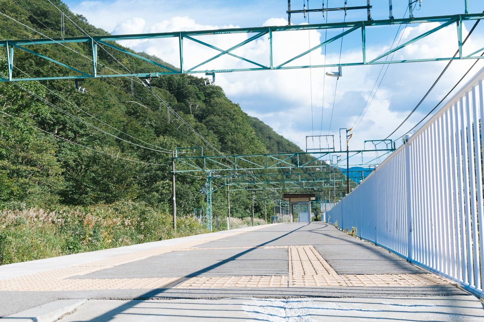 「土合駅の上りホーム(地上)」の写真