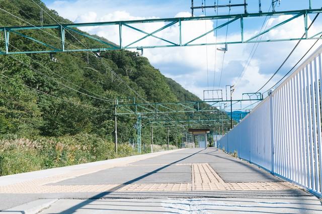 土合駅の上りホーム(地上)の写真