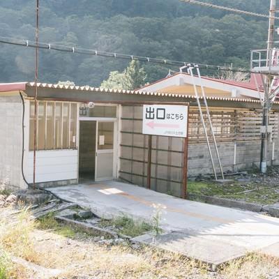 「土合駅の上りホーム出口」の写真素材