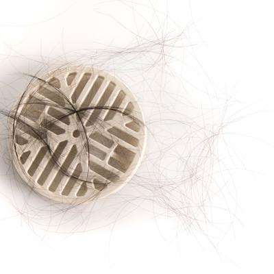 「排水口に溜まった抜け毛」の写真素材