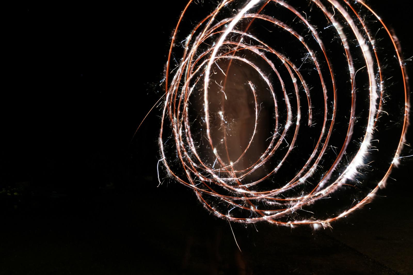 「ぐるぐる火花」の写真