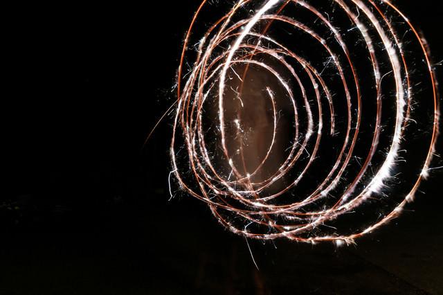 ぐるぐる火花の写真