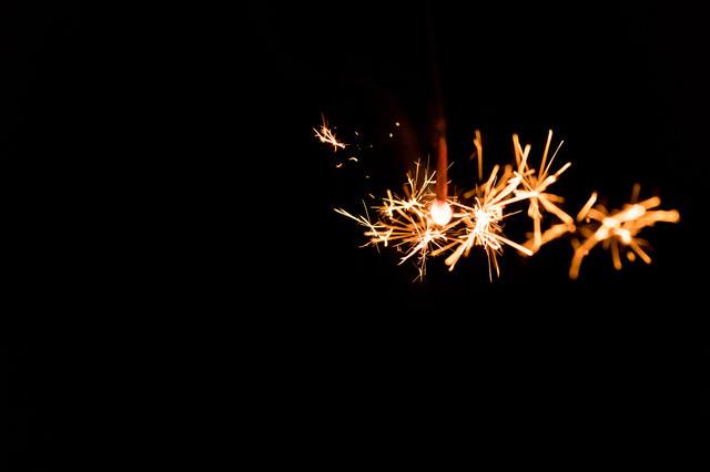 線香花火(せんこうはなび)の写真