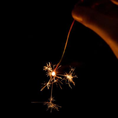 手持ち線香花火の写真