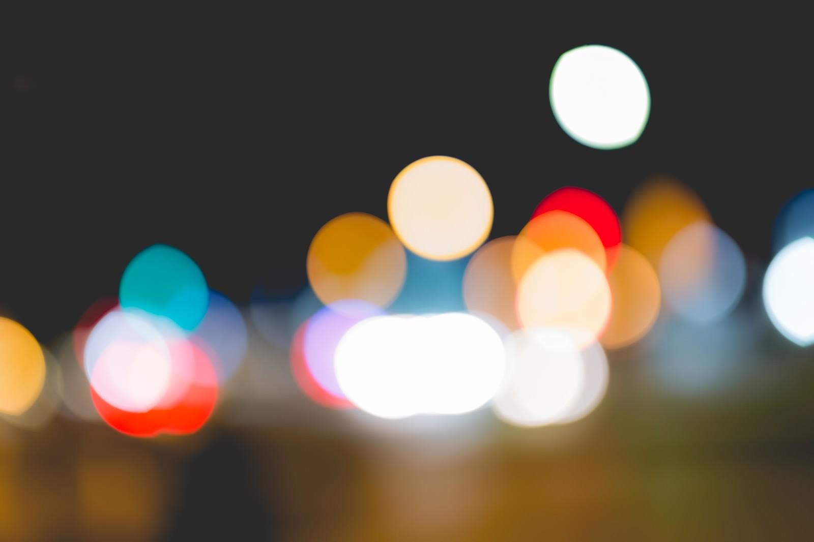「街の灯り(ボケ)」の写真