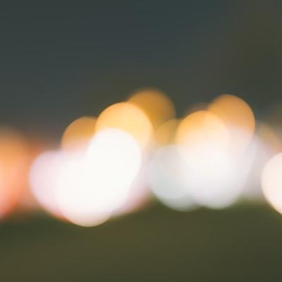 玉ボケのイルミネーションの写真