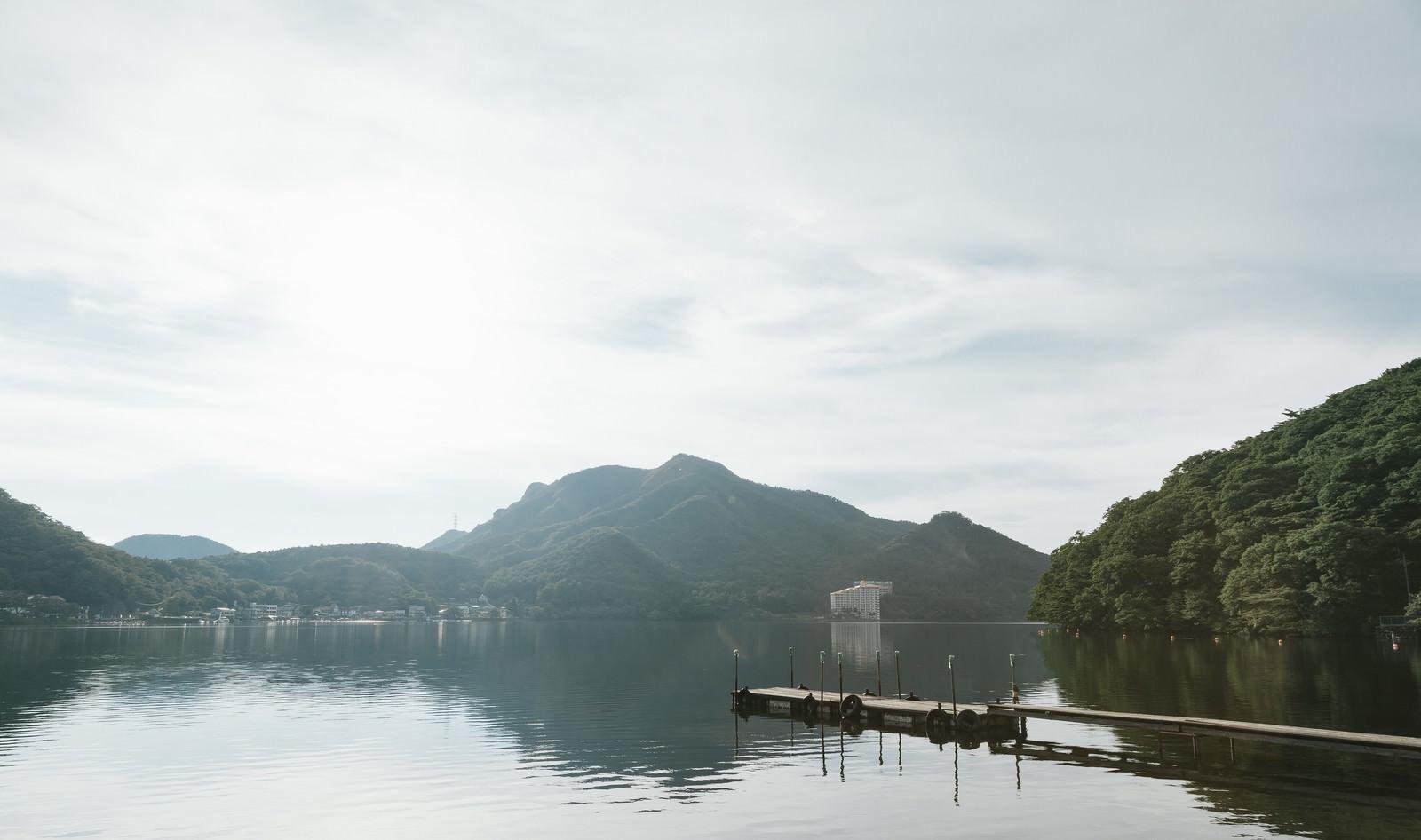 「群馬県西部にある榛名湖」の写真