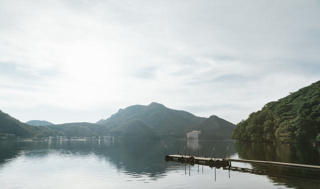 群馬県西部にある榛名湖の写真