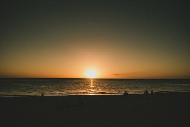 ハワイの極上サンセットの写真