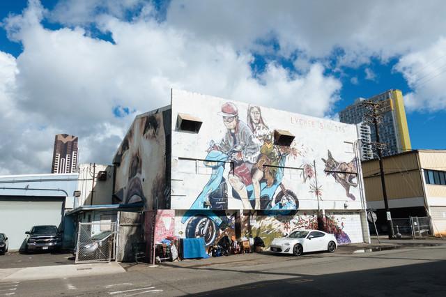 ハワイの新観光名所・カカアコのウォールアートの写真